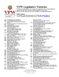 VFW Legislative Victories